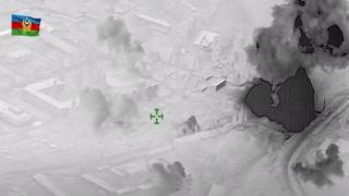 Azerbaycan ordusu Ermenistan'a ait karargahları eş zamanlı olarak havaya uçurdu!