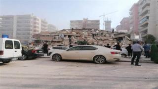 İzmir Seferihisar'daki depremin ardından ilk görüntüler