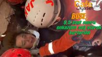 Bakan Pakdemirli'nin konuştuğu Buse enkazdan kurtarıldı