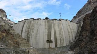 Dünyanın 3. en büyük barajı olacak olan Yusufeli Barajı'ndan görüntüler