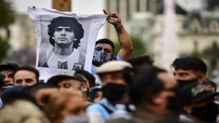 Arjantinli futbolcu Diego Maradona'ya veda