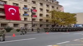 Türk komandolar Azerbaycan, Bakü'de yürüyor