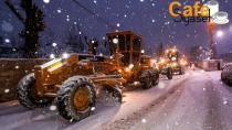 Van'da yoğun kar yağışı sonrası ekipler harekete geçti