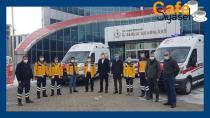 Bingöl'e tahsis edilen ambulanslar teslim edildi