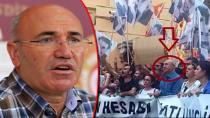 APO posteri altında yürüyen CHP'li Mahmut Tanal, Erdoğan'ı suçladı