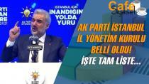 AK Parti İstanbul İl Yönetim Kurulu belli oldu! İşte isim isim o liste...