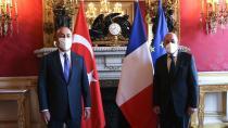 Bakan Çavuşoğlu Fransa Dış İşleri Bakanı ile görüştü