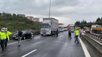 TEM'de 7 aracın karıştığı zincirleme kaza! Yol ulaşıma kapandı